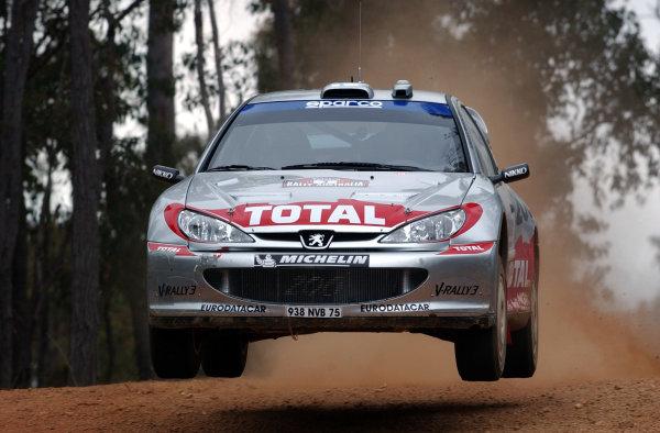 2002 World Rally Championship.Telstra Rally Australia, Perth. October 31st-November 3rd.Harri Rovanpera during shakedown.Photo: Ralph Hardwick/LAT