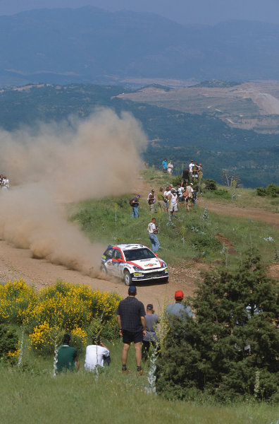 2002 World Rally ChampionshipAcropolis Rally, Greece. 13th - 16th June 2002.carlos Sainz/Luis Moya, Ford Focus RS WRC02, action.World Copyright: McKlein/LAT Photographicref: 35mm Image A03
