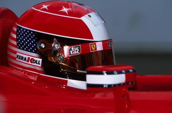 Michael Schumacher(GER) helmet design for Indy. USA Grand Prix, Indianapolis 30 September 2001 BEST IMAGE