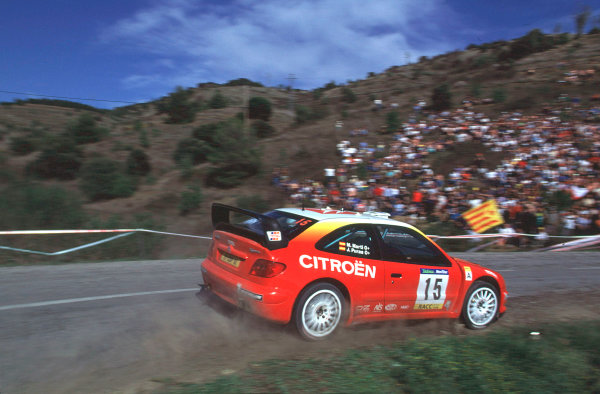 2001 World Rally Championship. Catalunya Rally, Spain. 22nd - 25th March 2001. Rd 4. J. Puras / M. Marti, Citroen Xsara T4, retired. World Copyright: McKlein / LAT Photographic. Ref: A20