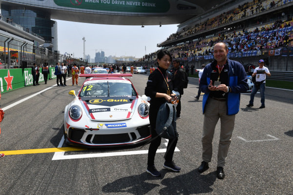 Will Bamber (NZL) Earl Bamber Motorsport on the grid at Porsche Carrera Cup Asia, Shanghai, China, 13-15 April 2018.