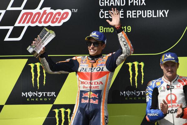 Podium: race winner Marc Marquez, Repsol Honda Team