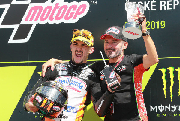 Race winner Aron Canet, Max Racing Team with Max Biaggi
