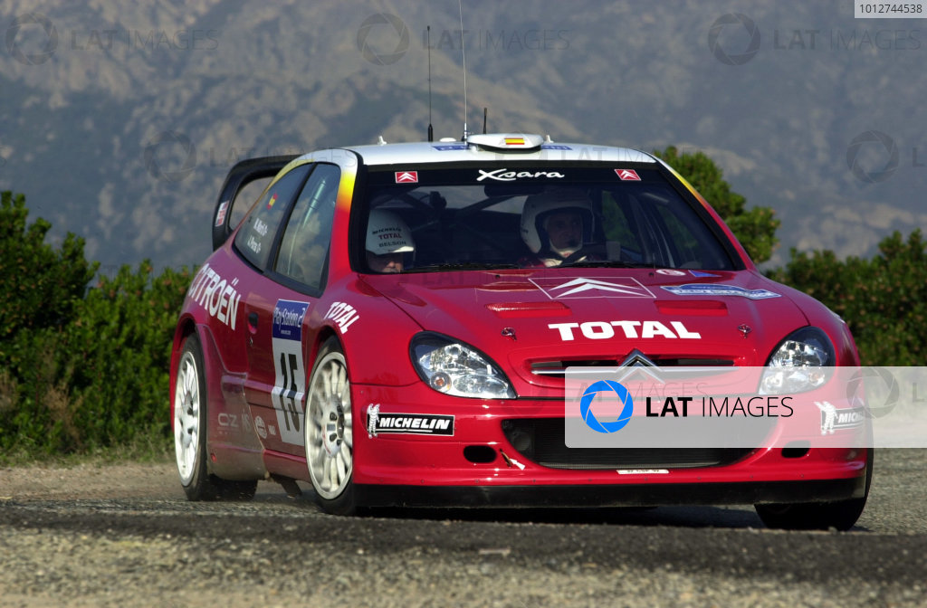 2001 World Rally Championship.Rallye de France, Ajaccio, Corsica, October 19-21.Jesus Puras during shakedown.Photo: Ralph Hardwick/LAT
