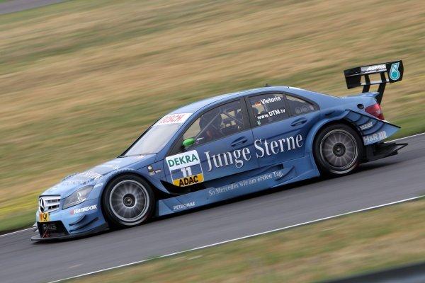 Christian Vietoris (GER), Junge Sterne AMG Mercedes.DTM, Rd4, Eurospeedway Lausitz, Germany, 18-19 June 2011.