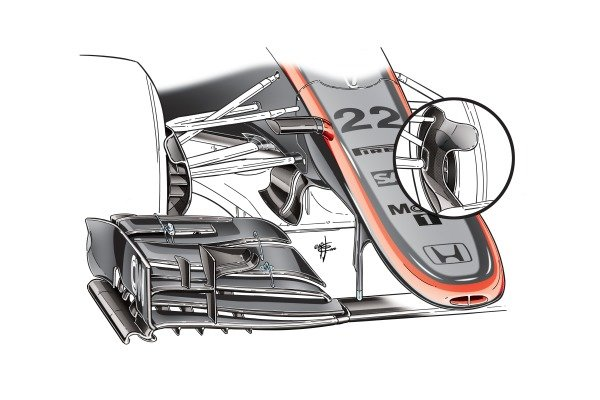 """McLaren MP4/30 """"B"""" duct design"""