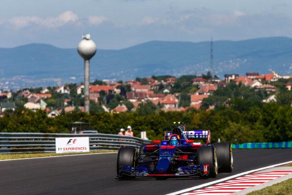 Hungaroring, Budapest, Hungary.  Friday 28 July 2017. Carlos Sainz Jr, Toro Rosso STR12 Renault. World Copyright: Andy Hone/LAT Images  ref: Digital Image _ONY9433