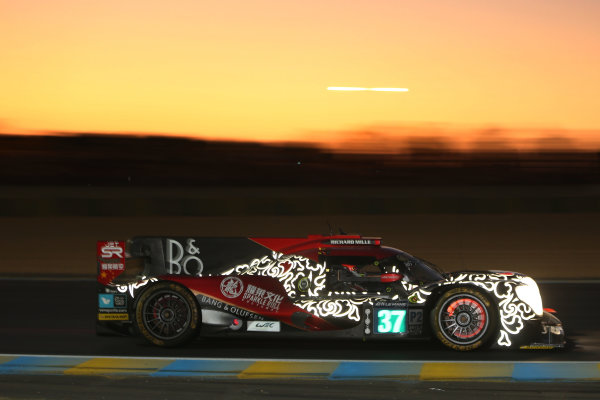 2017 Le Mans 24 Hours Circuit de la Sarthe, Le Mans, France. Thursday 15 June 2017 #37 DC Racing Oreca 07 Gibson: David Cheng, Alex Brundle, Tristan Gommendy  World Copyright: JEP/LAT Images