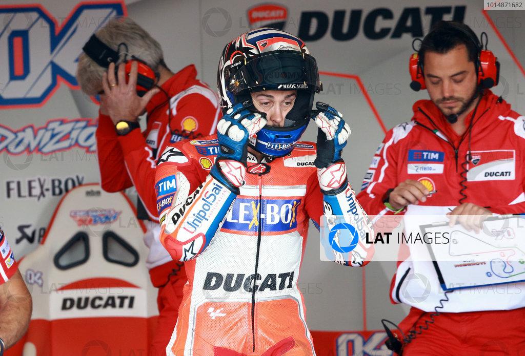 2017 MotoGP Championship - Round 9 Sachsenring, Germany Sunday 2 July 2017 Andrea Dovizioso, Ducati Team World Copyright: David Goldman/LAT Images ref: Digital Image 33984