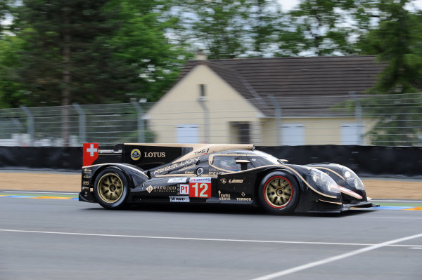 Circuit de La Sarthe, Le Mans, France. 13th - 17th June 2012.  Wednesday Free Practice Nicolas Prost/Neel Jani/Nick Heidfeld, Rebellion Racing, No.12 Lola B12/60 Coupe - Toyota.  Photo: Jeff Bloxham/LAT Photographic.  ref: Digital Image DSC_9478