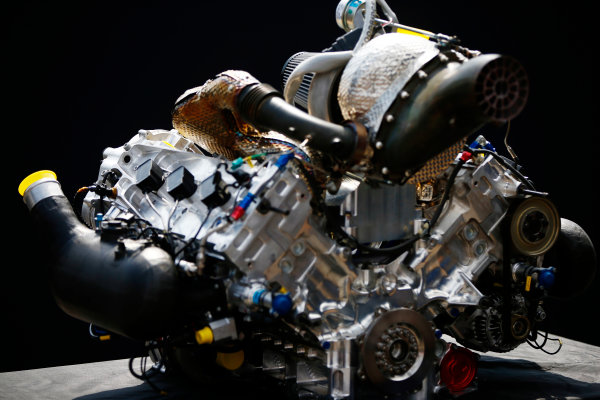 Autodromo Nazionale di Monza, Italy. Thursday 31 August 2017 The new F2 engine. Photo: Andrew Hone/FIA Formula 2 ref: Digital Image _ONZ0378