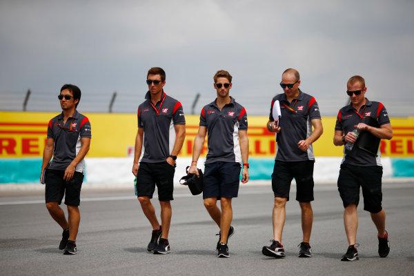 Sepang International Circuit, Sepang, Malaysia. Thursday 28 September 2017. Romain Grosjean, Haas F1.  World Copyright: Andy Hone/LAT Images  ref: Digital Image _ONZ8231