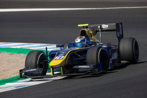 2017 FIA Formula 2 Round 10. Circuito de Jerez, Jerez, Spain. Sunday 8 October 2017. Nicholas Latifi (CAN, DAMS).  Photo: Andrew Ferraro/FIA Formula 2. ref: Digital Image _FER3597