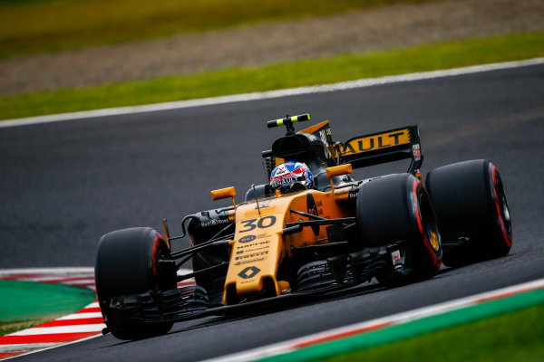 Suzuka Circuit, Japan. Saturday 7 October 2017. Jolyon Palmer, Renault R.S.17. World Copyright: Andrew Hone/LAT Images  ref: Digital Image _ONZ3318