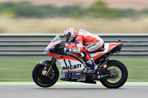 2017 MotoGP Championship - Round 14 Aragon, Spain. Friday 22 September 2017 Andrea Dovizioso, Ducati Team World Copyright: Gold and Goose / LAT Images ref: Digital Image 693679