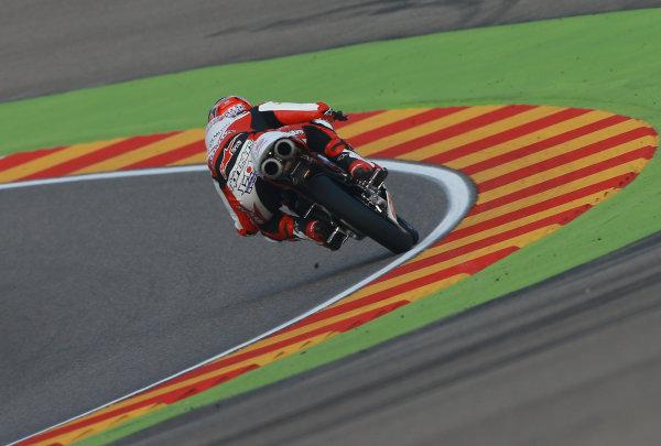 2017 Moto3 Championship - Round 14 Aragon, Spain. Saturday 23 September 2017 Kaito Toba, Honda Team Asia World Copyright: Gold and Goose / LAT Images ref: Digital Image 14002