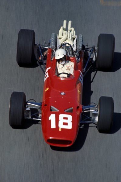 Lorenzo Bandini (ITA) Ferrari 312, was in second place and gaining on the race leader when he crashed at the chicane, becoming trapped beneath his burning car and suffering burns which would claim his life three days later. Formula One World Championship, Rd2, Monaco Grand Prix, Monte-Carlo, Monaco. 7 May 1967. BEST IMAGE