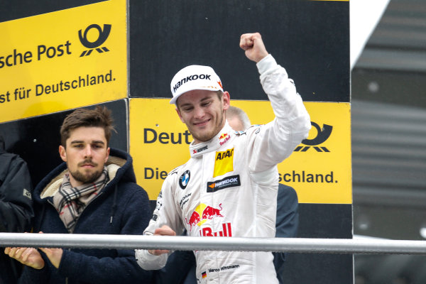 2017 DTM Round 1 Hockenheim, Germany. Sunday 7 May 2017. Podium: third place Marco Wittmann, BMW Team RMG, BMW M4 DTM World Copyright: Alexander Trienitz/LAT Images ref: Digital Image 2017-DTM-R1-HH-AT1-3688