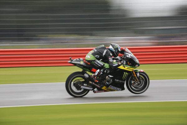 2015 MotoGP Championship.  British Grand Prix.  Silverstone, England. 28th - 30th August 2015.  Bradley Smith, Tech 3 Yamaha.  Ref: KW5_4826a. World copyright: Kevin Wood/LAT Photographic