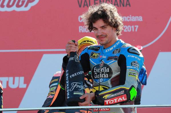2017 Moto2 Championship - Round 18 Valencia, Spain  Sunday 12 November 2017 Podium: Franco Morbidelli, Marc VDS  World Copyright: Gold and Goose Photography/LAT Images  ref: Digital Image 706503