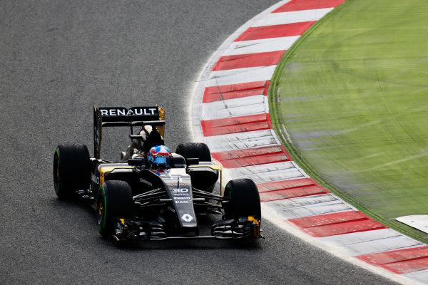 Circuit de Catalunya, Barcelona, Spain Monday 22 February 2016. Jolyon Palmer, Renault RE16. World Copyright: Alastair Staley/LAT Photographic ref: Digital Image _R6T6433