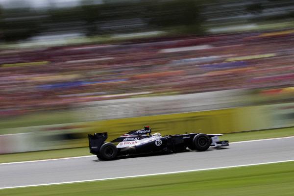 Pastor Maldonado, Williams FW34 Renault.