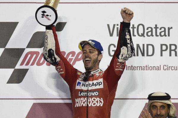 Podium: Andrea Dovizioso, Ducati Team.