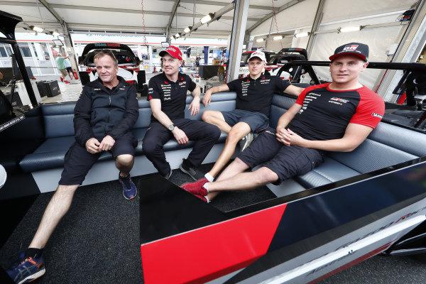 Tommi Makinen, Jari-Matti Latvala, Ott Tanak and Esapekka Lappi, Toyota Gaza Racing