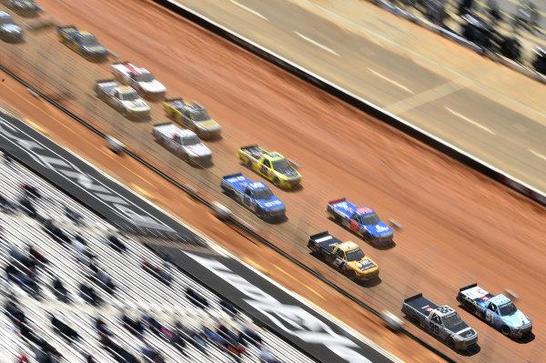 #51: Martin Truex Jr., Kyle Busch Motorsports, Toyota Tundra Auto-Owners Insurance, #99: Ben Rhodes, ThorSport Racing, Toyota Tundra Bombardier Learjet 75