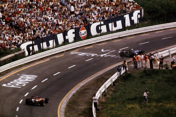 1970 Belgian Grand Prix.Spa-Francorchamps, Belgium.5-7 June 1970.Jackie Stewart (March 701 Ford) leads Jacky Ickx (Ferrari 312B).Ref-70 BEL 13.World Copyright - LAT Photographic