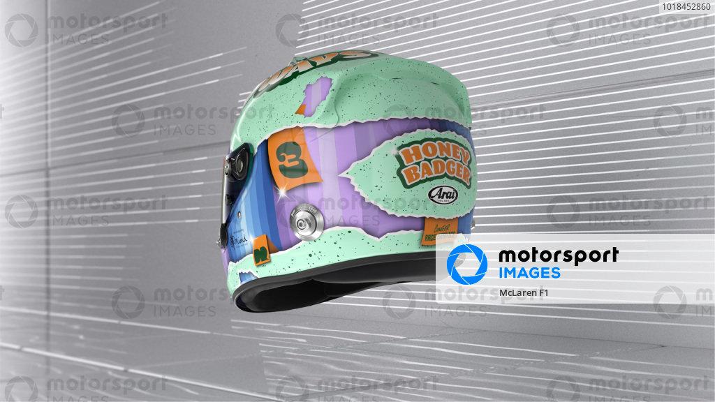 Daniel Ricciardo helmet - rear