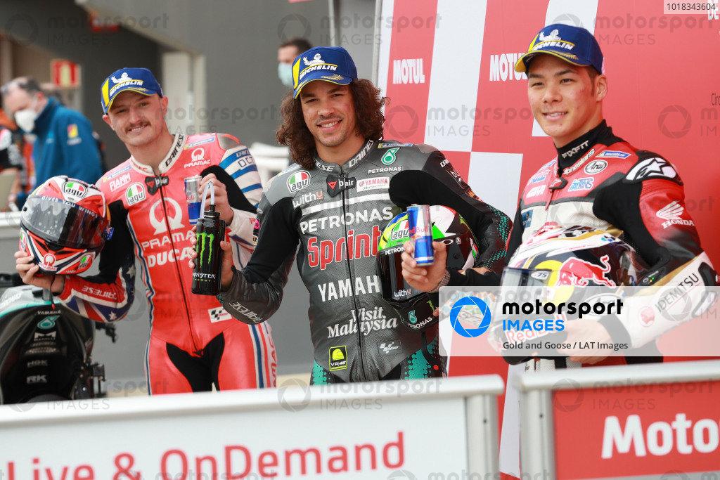 Jack Miller, Pramac Racing Franco Morbidelli, Petronas Yamaha SRT Takaaki Nakagami, Team LCR Honda.