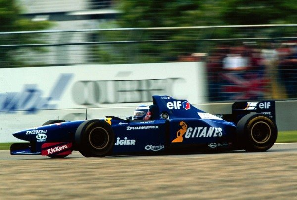 1995 Canadian Grand Prix.Montreal, Quebec, Canada.9-11 June 1995.Olivier Panis (Ligier JS41 Mugen Honda) 4th position.World Copyright - LAT Photographic