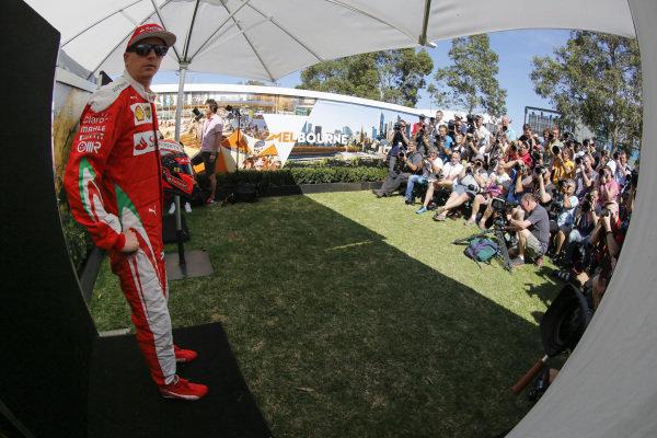 Kimi Raikkonen (FIN) Ferrari at Formula One World Championship, Rd1, Australian Grand Prix, Preparations, Albert Park, Melbourne, Australia, Thursday 17 March 2016.