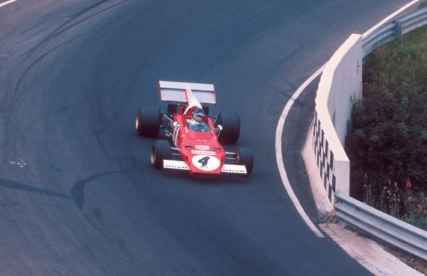 1972 German Grand Prix.Nurburgring, Germany.28-30 July 1972.Jacky Ickx (Ferrari 312B2) 1st position.Ref-72 GER 12.World Copyright - LAT Photographic