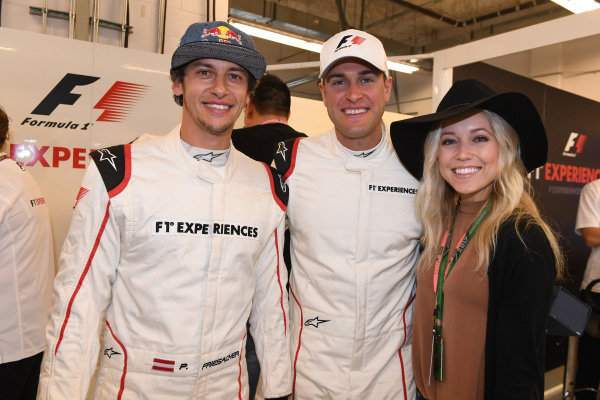 Patrick Friesacher (AUT) F1 Experiences 2-Seater driver and F1 Experiences 2-Seater passenger at Formula One World Championship, Rd17, United States Grand Prix, Race, Circuit of the Americas, Austin, Texas, USA, Sunday 22 October 2017.