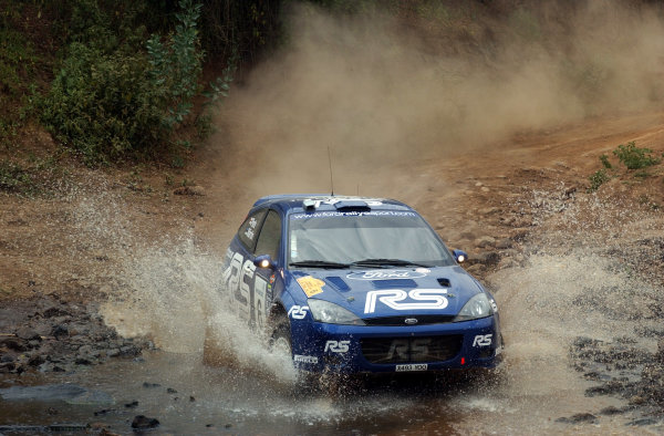 2002 World Rally Championship.Safari Rally, Nairobi Kenya, July 11-14th.Markko Martin on section two.Photo: Ralph Hardwick/LAT
