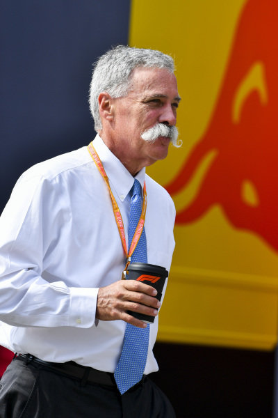 Chase Carey, Chairman, Formula 1 in the paddock
