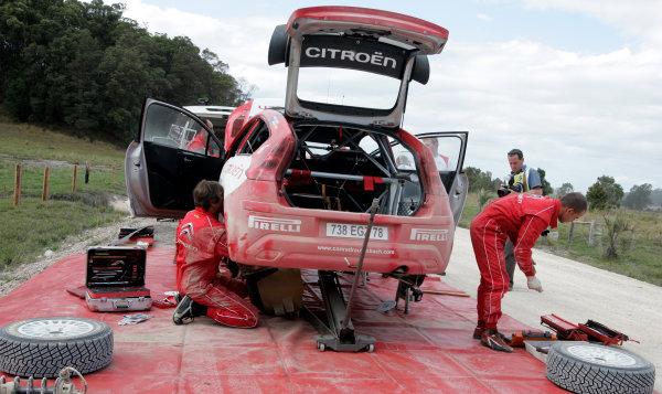 Round 10Rally Australia 3rd-6th September  2009Service, Citroen, WRC, Atmosphere.Worldwide Copyright: McKlein/LAT
