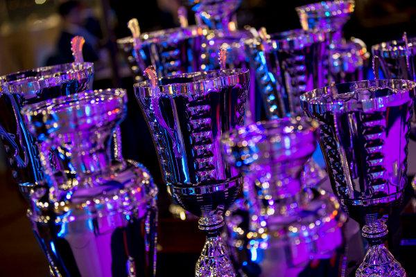 2017 Awards Evening. Yas Marina Circuit, Abu Dhabi, United Arab Emirates. Sunday 26 November 2017. Trophies. Photo: Zak Mauger/FIA Formula 2/GP3 Series. ref: Digital Image _X0W0169