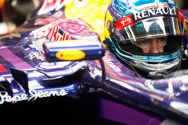 Hungaroring, Budapest, Hungary. Sunday 27 July 2014. Sebastian Vettel, Red Bull Racing. World Copyright: Charles Coates/LAT Photographic. ref: Digital Image _J5R9557