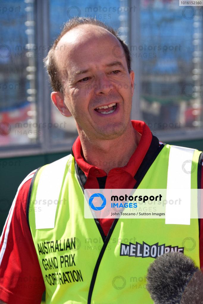 Andrew Westacott (AUS) Australian GP CEO welcomes Formula 1 to Albert Park.Formula One World Championship, Rd1, Australian Grand Prix, Preparations, Albert Park, Melbourne, Australia, Sunday 9 March 2014.