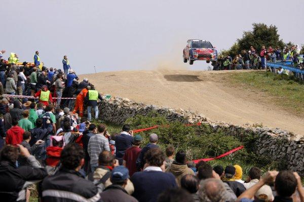 2008 FIA World Rally ChampionshipRound 06Rally d'Italia Sardegna 200815-18 of May 20Sebastien Loeb,  Citroen WRC, Aktion