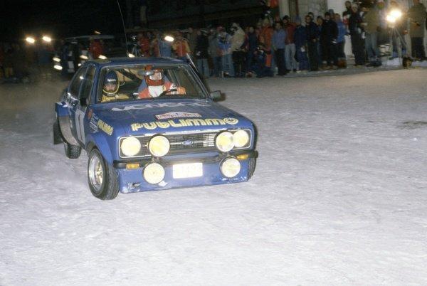 1981 World Rally Championship.Monte Carlo Rally, Monaco. 24-30 January 1981.Bjorn Waldegaard, Hans Thorszelius (Ford Escort RS1800), 8th position.World Copyright: LAT PhotographicRef: 35mm transparency 81RALLY23