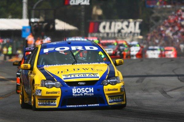 James Courtney (AUS) Jeld-Wen Ford Australian V8 Supercars, Rd1, Clipsal 500, Adelaide, Australia, 3-4 February 2007. DIGITAL IMAGE