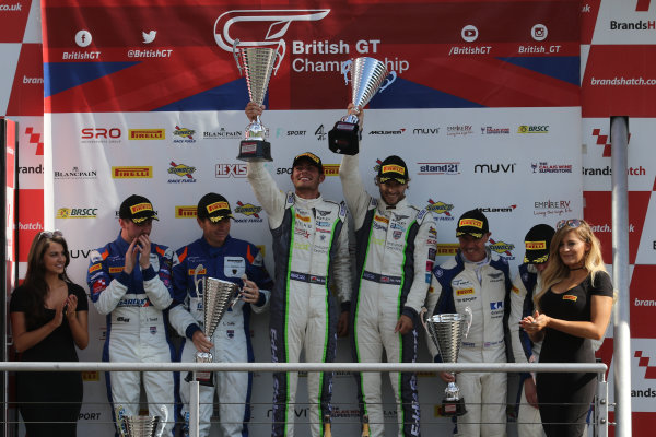 2017 British GT Championship, Brands Hatch, 5th-6th August 2017, GT3 Podium  World Copyright. JEP/LAT Images