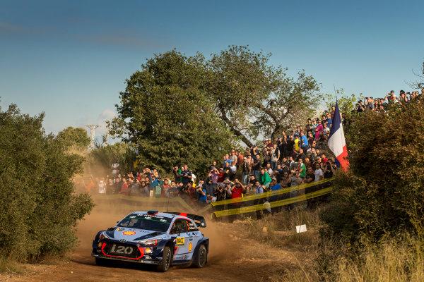 2017 FIA World Rally Championship, Round 11, Rally RACC Catalunya / Rally de España, 5-8 October, 2017, Thierry Neuville, Hyundai, action, Worldwide Copyright: LAT/McKlein