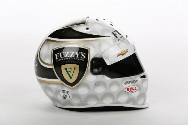 17 February 2015, Indianapolis, Indiana, USA Ed Carpenter Helmet ©2015, Michael L. Levitt LAT Photo USA