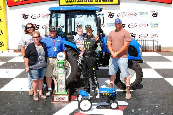 17-19 June, 2016, Newton, Iowa USA Sam Hornish Jr, Toyota Camry celebrates in victory lane  ©2016, Russell LaBounty LAT Photo USA