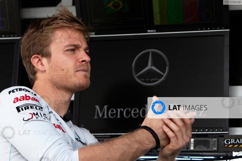 Interlagos, Sao Paulo, Brazil. 24th November 2011. Nico Rosberg, Mercedes GP W02. Portrait.  World Copyright: Steve Etherington/LAT Photographic ref: Digital Image SNE24501